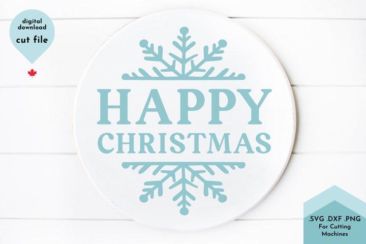Happy Christmas SVG Cut File