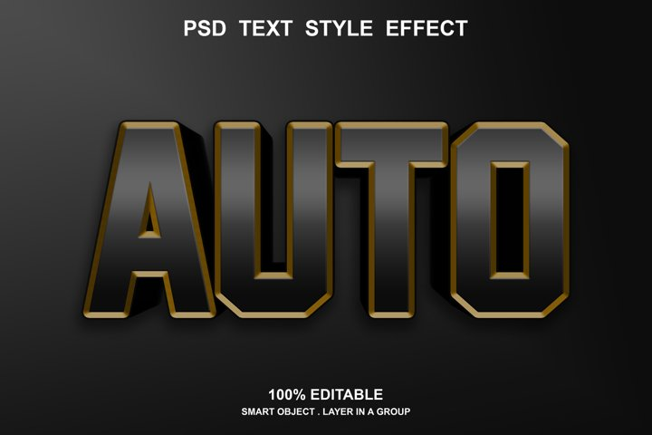 auto text effect editable