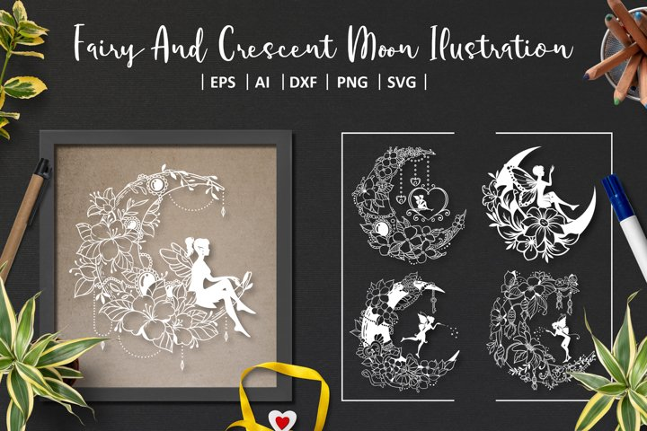 8 Crescent Moon And Fairy