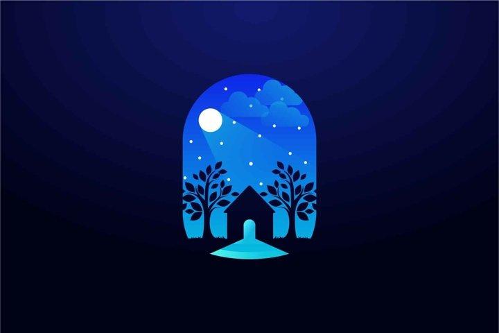Home logo design illustration