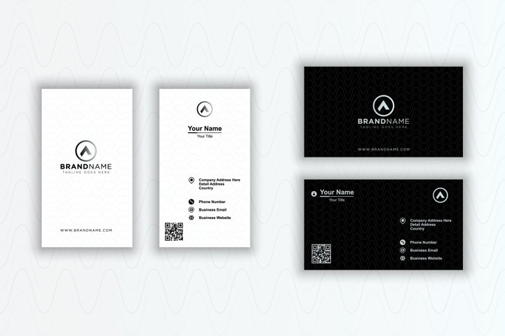 Elegant business card, black and white business card