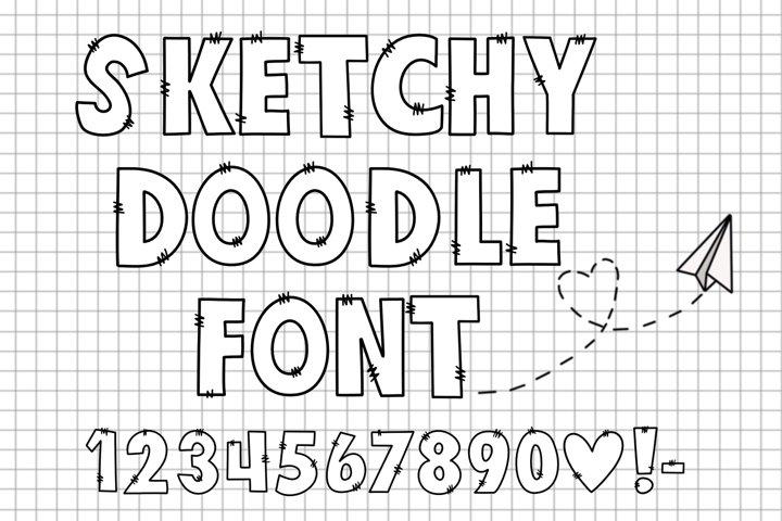 Sketchy Doodle Font