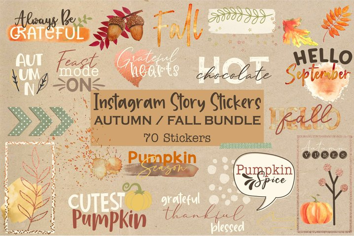 70 Instagram Story Stickers | Fall stickers| Autumn Stickers