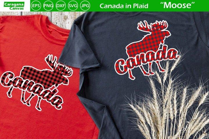 Canada in Plaid - Moose