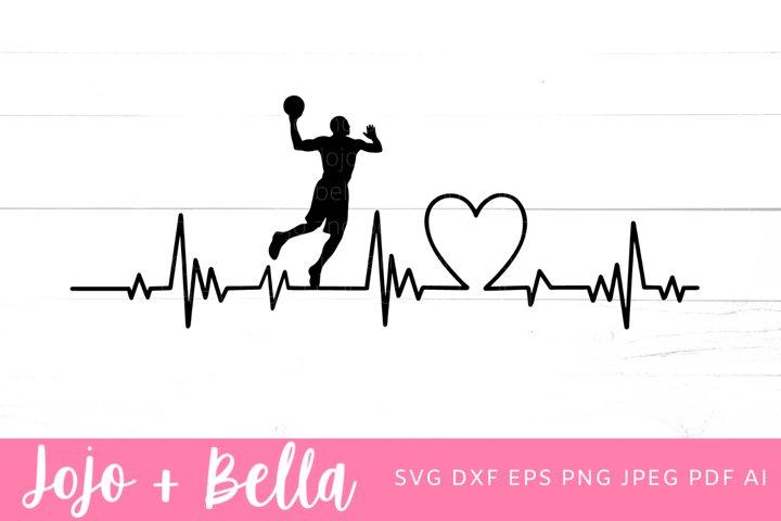 Basketball SVG - Heartbeat Svg
