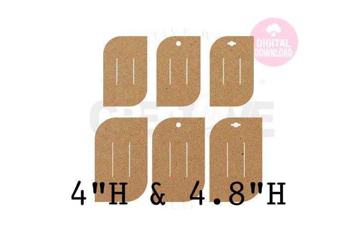 6 Templates Hair Bow Display Card | BDC031