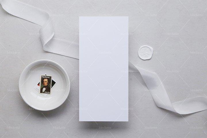 Wedding Stationery Mockup - Menu - Blanc Collection
