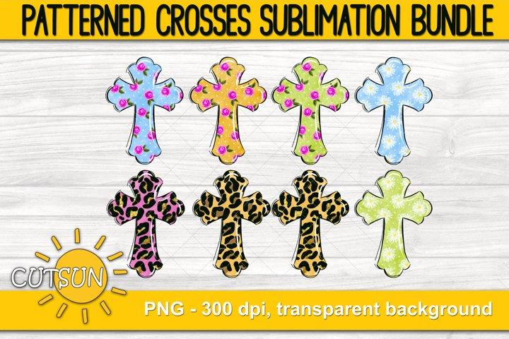Easter Sublimation Bundle Patterned Cross