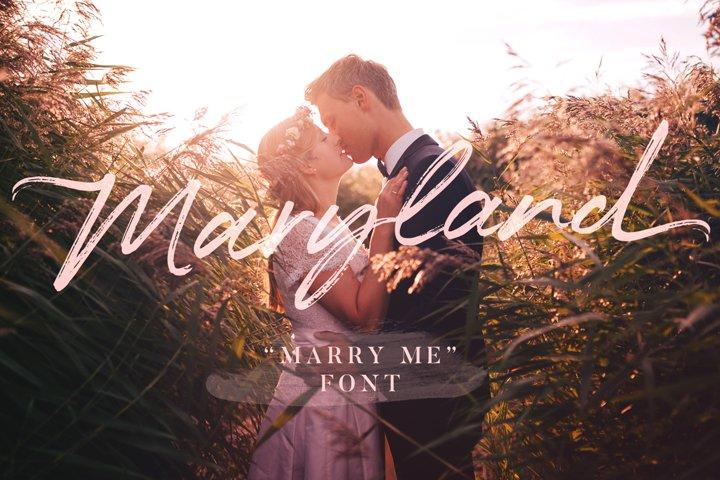 Maryland Wedding Font