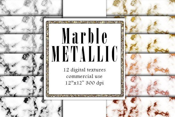 Metallic Marble Textures, Rose Gold Marble, Silver Papers