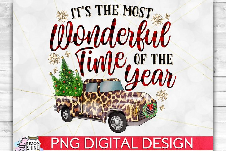 Most Wonderful Time Of The Year Truck PNG Sublimation Design