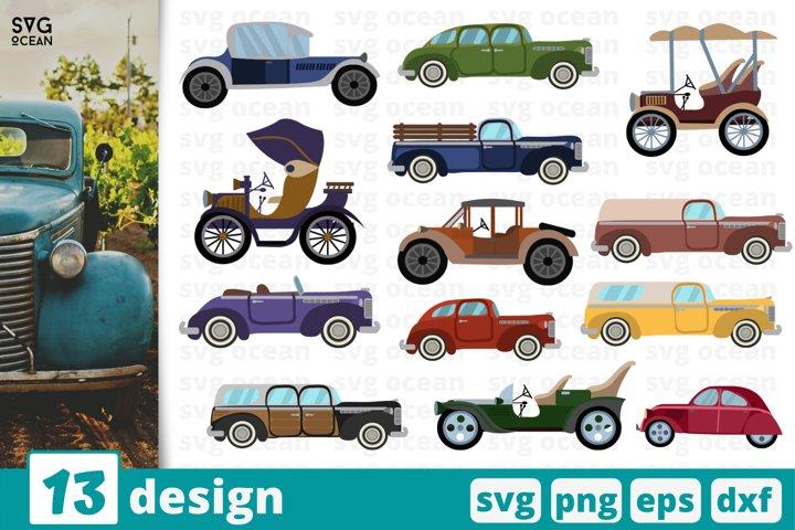 13 VINTAGE CARS SVG BUNDLE | vintage svg | cars cricut
