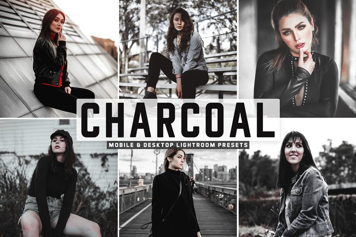 Charcoal Mobile & Desktop Lightroom Presets