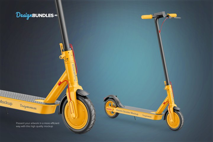 Electric Scooter Mockup example 2