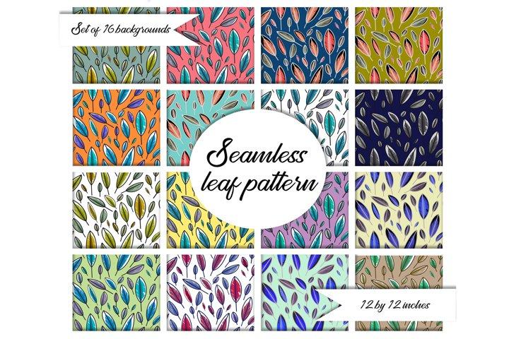 Leaves pattern.leaf pattern.Digital Paper.Digital Prints.