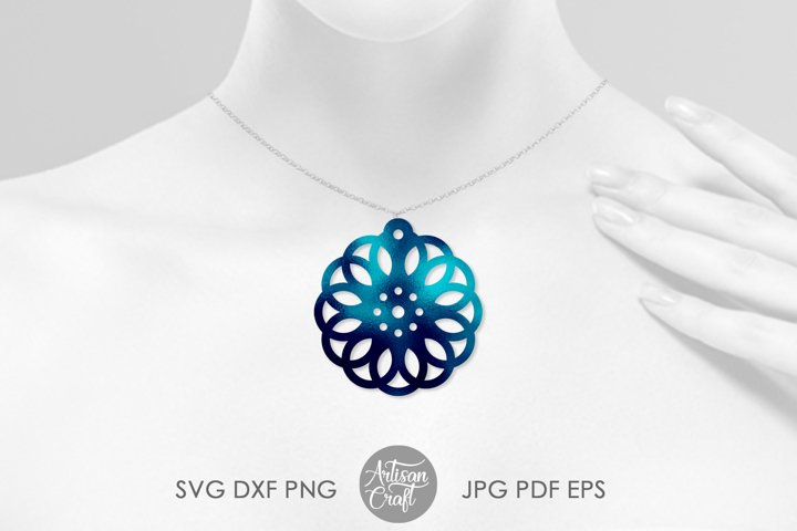 Geometric earring SVG, Leather earring template, Cut file example 3