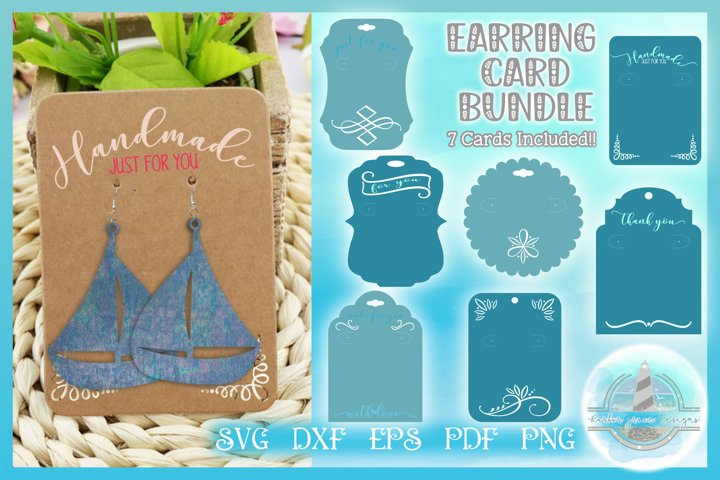 Earring Card Template SVG Bundle | Display Earring Card SVG