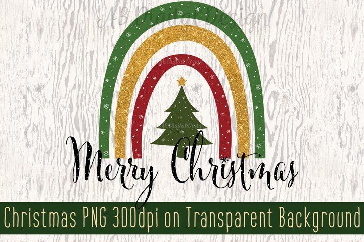 Christmas Sublimation PNG Merry Christmas Snowflakes Rainbow