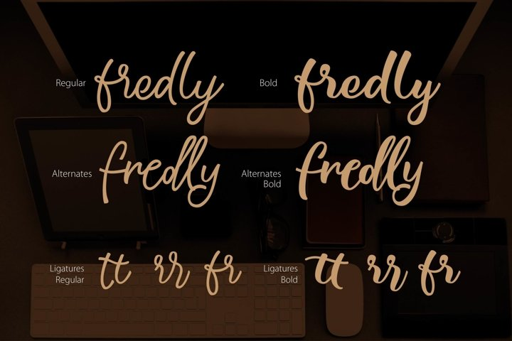 Fredly Modern Typeface - Free Font of The Week Design5