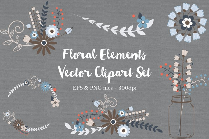 Floral Wreath Clipart Vectors example