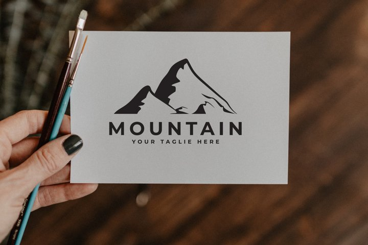 mountain logo silhouette