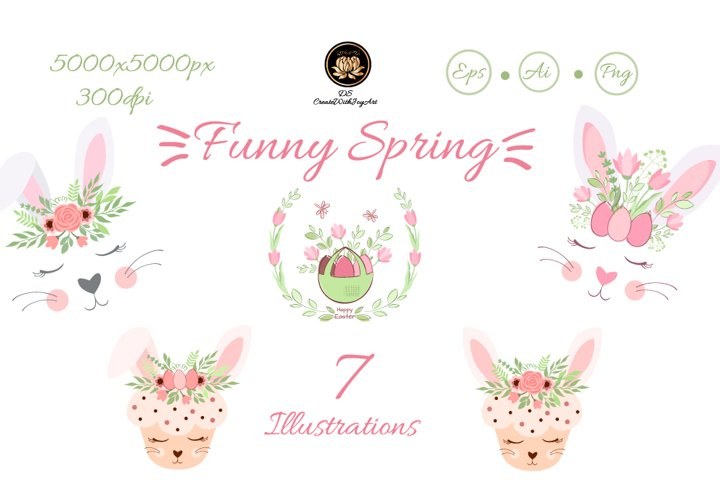 Funny spring clipart