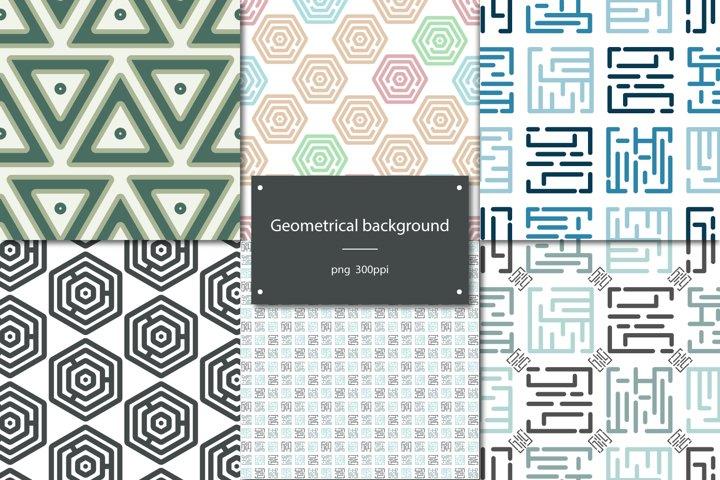 Set of 6 geometrical backgrounds