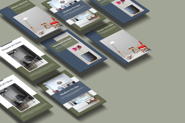 Stories social media template for furniture and interior