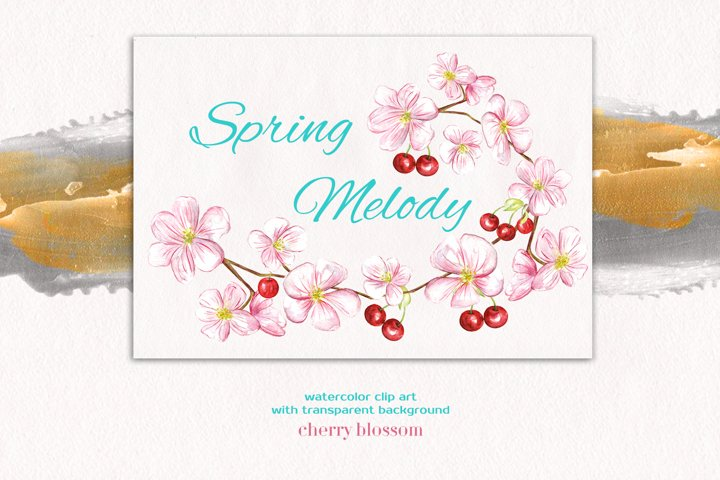 Spring Melody watercolor collection