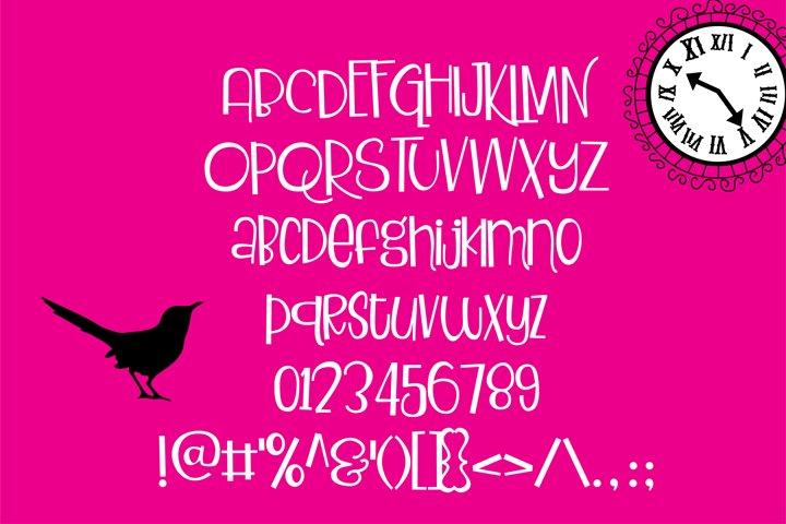 ZP Blackbird Pie - Free Font of The Week Design0