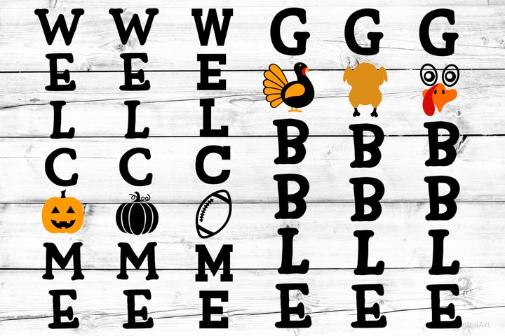Fall Porch Sign SVG Bundle Svg, Welcome Fall Bundle Svg
