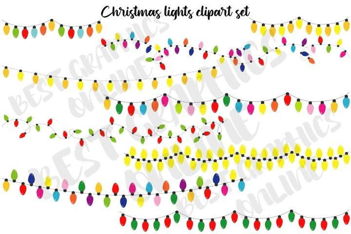 Christmas lights clipart String of Christmas lights clip art