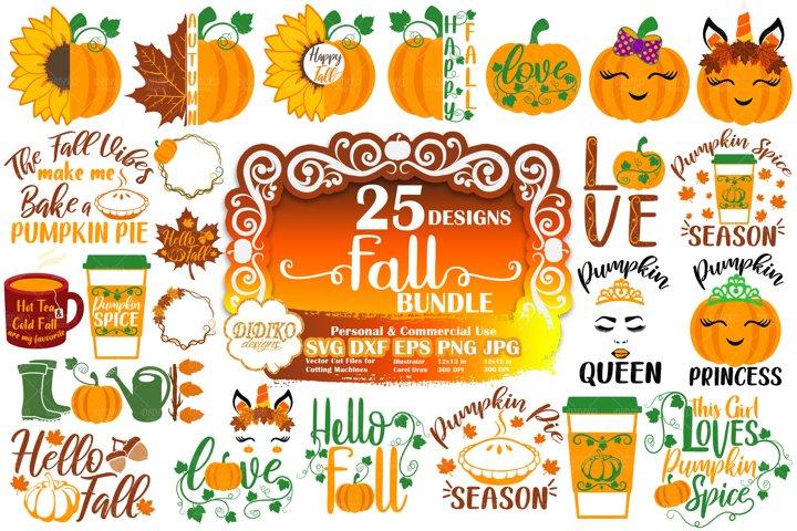 Fall SVG Bundle | Pumpkin SVG Bundle | Autumn SVG Bundle