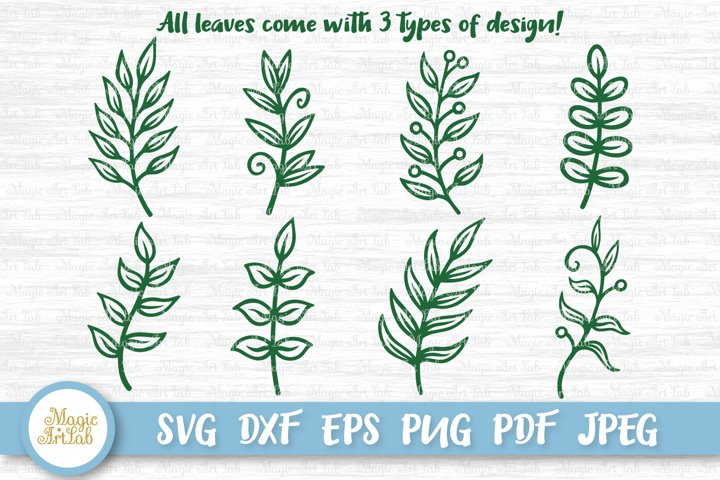 Paper leaves svg, Leaf svg, Leaves svg file, Leaf bundle