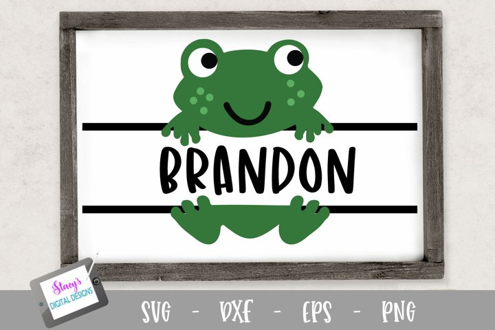 Frog Split Monogram Design