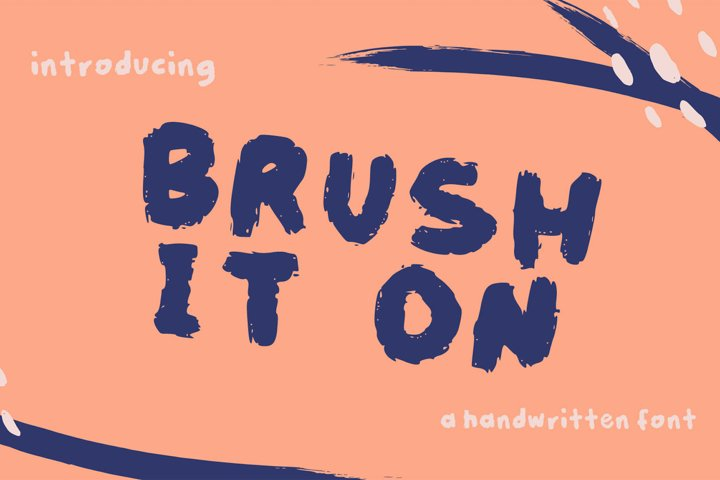 brush it on