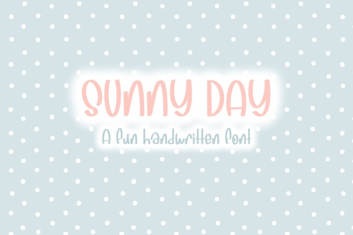 Sunny Days| Quirky Hand Written Font