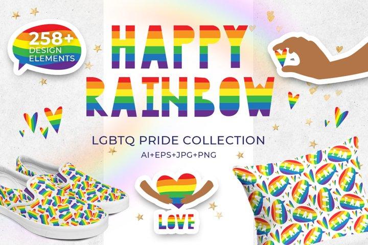 Happy Rainbow LGBTQ pride collection