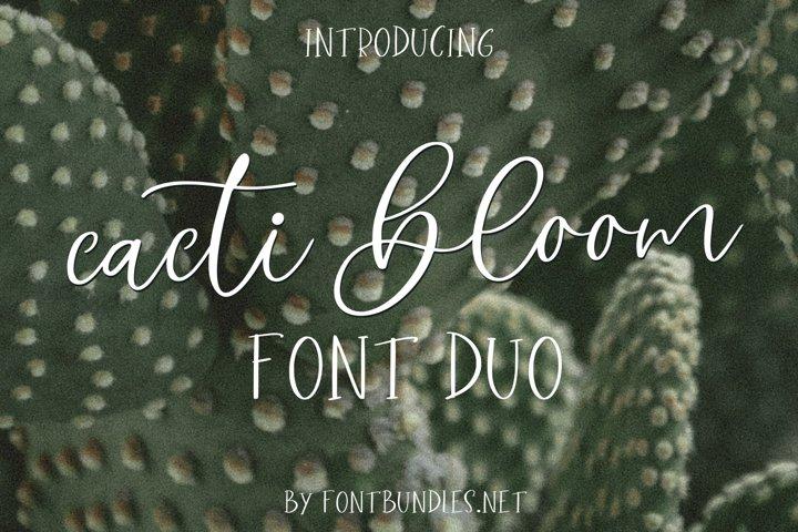 Cacti Bloom Font Duo
