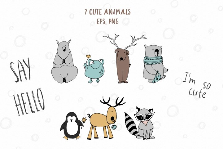 Animals & patterns for baby nursery Cute baby illustrations example 5