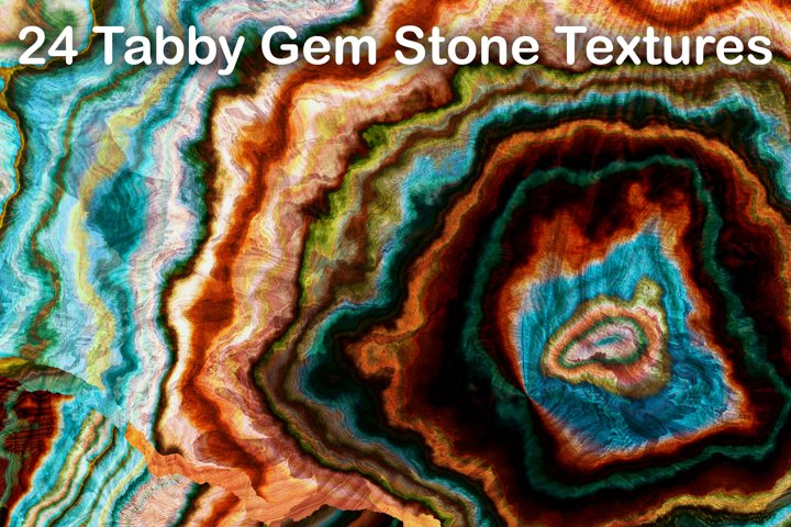 24 Tabby Onyx Gem Stone Textures - High Resolution JPG Files