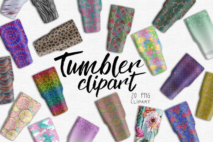 Sub Society Branded Tumbler Clipart Set