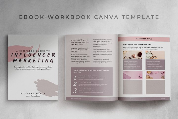 eBook-Workbook Hybrid Canva template   Sandy