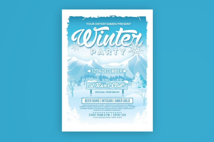 Winter Holiday Party Flyer