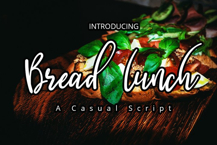 Breadlunch| Casual Script Display Typeface Font