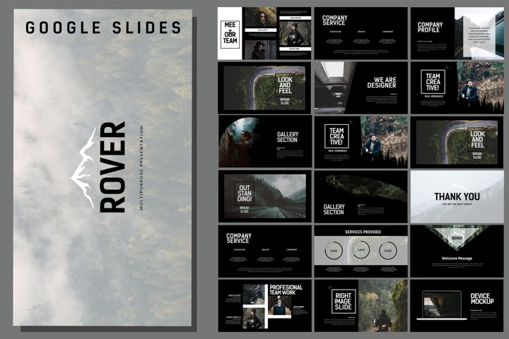 Rover Adventure - Dark Google Slides Nature