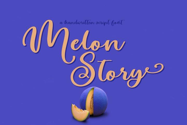 Melon Story Script Font