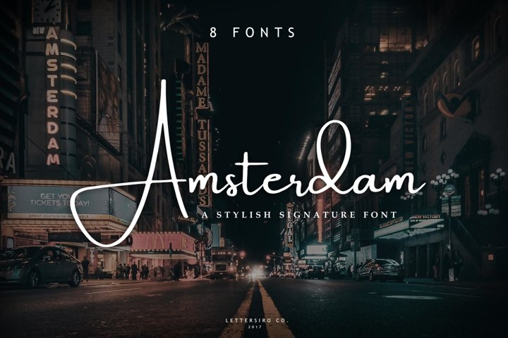 Amsterdam 8 Elegant Font