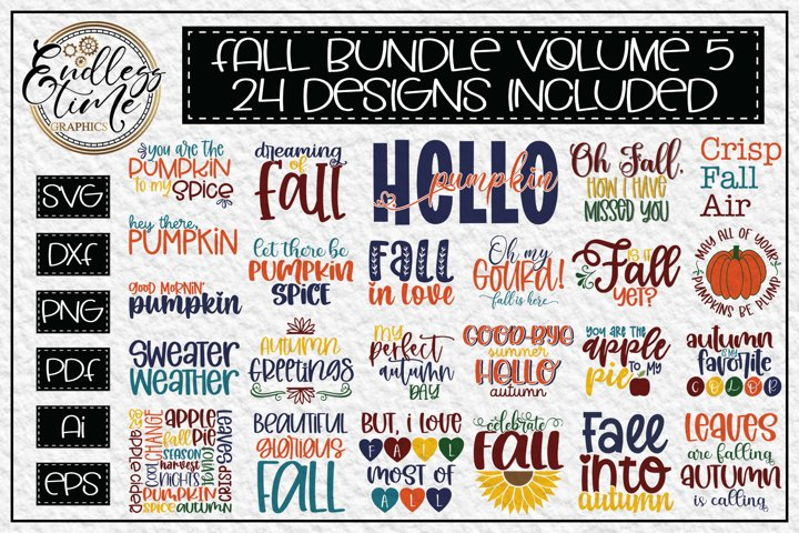 Fall SVG Bundle Volume 5 - Fun and Festive Autumn Designs