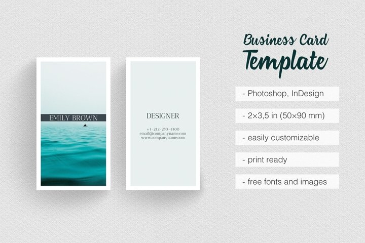 Ocean Photography Business Card Template